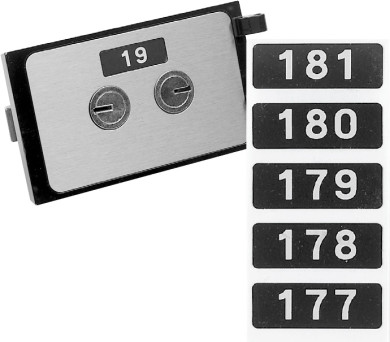 Bullseye S.D. Locks product - Mosler Number Set